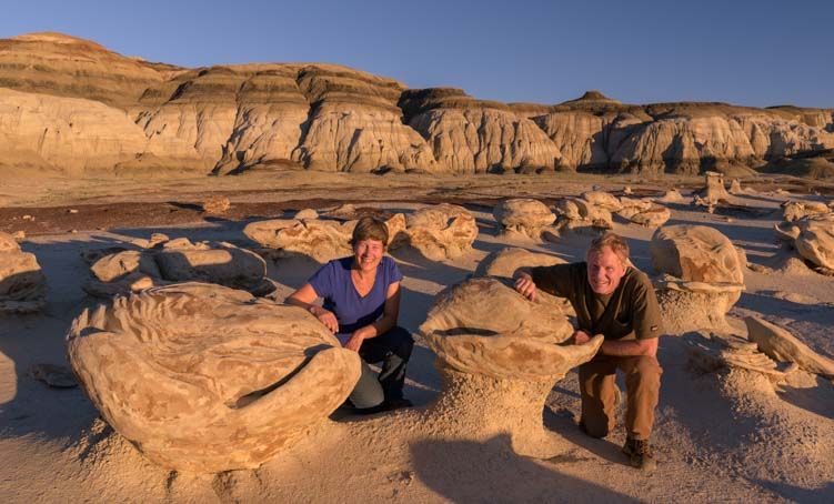 Bisti De-Na-Zin Wilderness New Mexico Photographing the Eggs