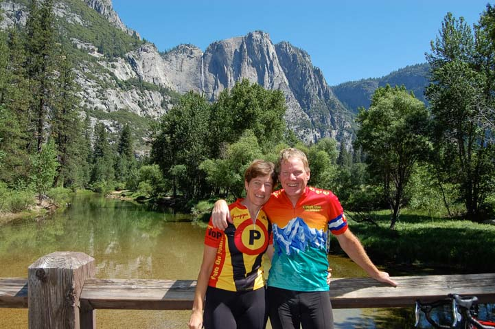 Happy RVers at Yosemite National Park California