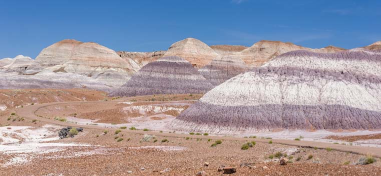 Blue and purple on Blue Mesa Trail Petrified Forest National Park Arizona