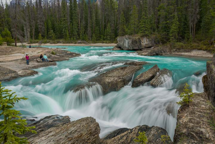 Natural Bridge Yoho National Park RV trip to Canada