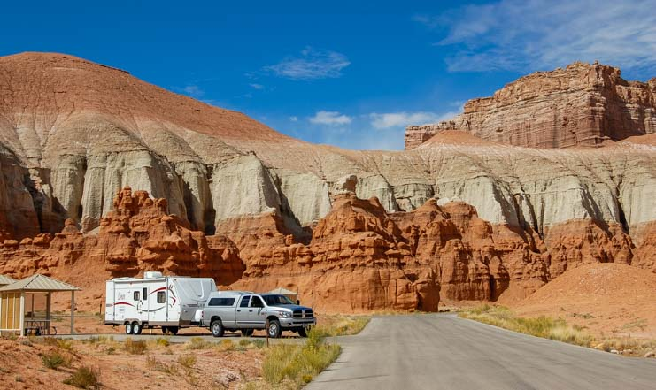 Goblin Valley State Park RV campground Utah