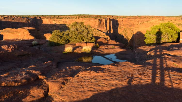Shadows at sunset Canyon de Chelly National Monument Arizona