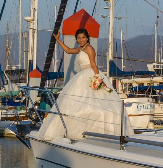 Quinceanera on sailboat Groovy in Ensenada Mexico