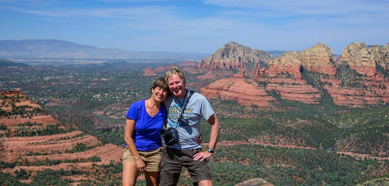 Hiking the red rocks in Sedona Arizona