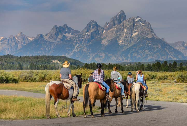 Horseback riders in Grand Teton National Park Wyoming