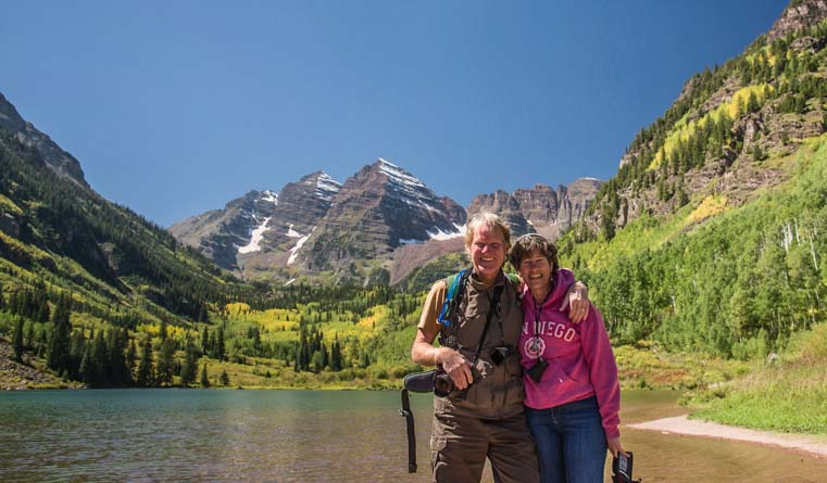 Happy Campers in Maroon Bells Colorado