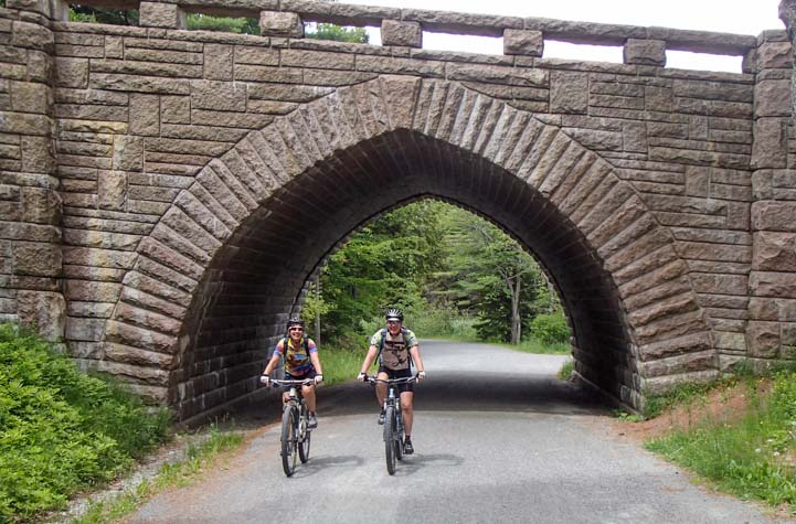 Acadia National Park Maine bicycling on the Carriage Roads