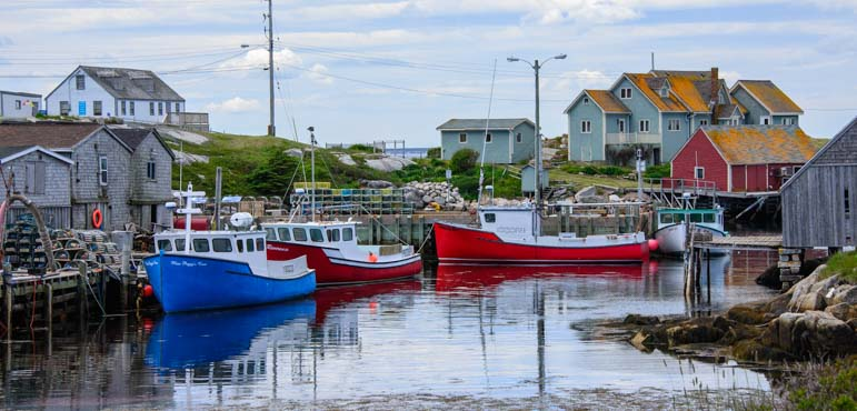 Peggys Cove Nova Scotia lobster boats