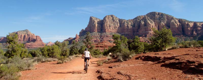 mountain biking in Sedona Arizona on an RV trip