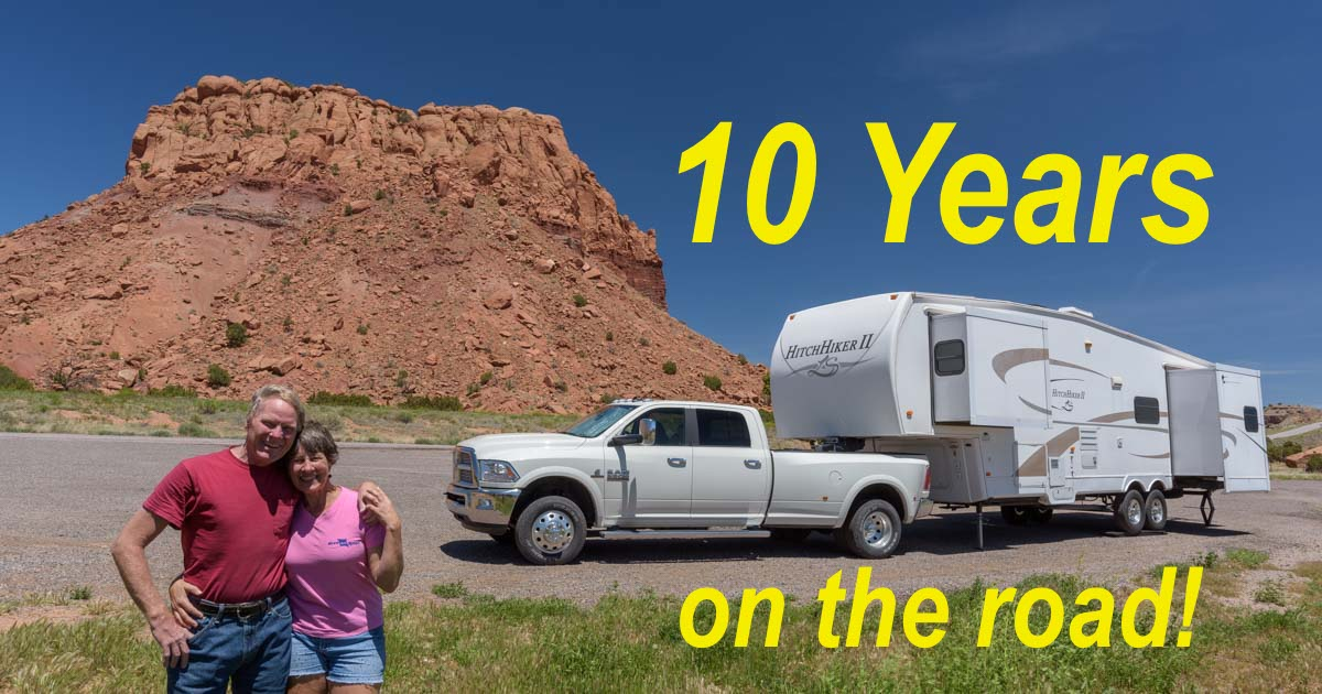 10 years of full-time RV travel and sailing