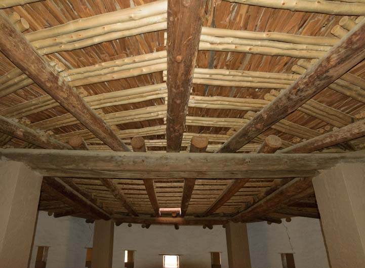 Ceiling of Kiva at Aztec Ruins National Monument New Mexico