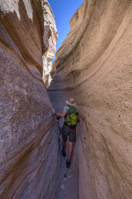 Hiking Slot Canyon Tent Rocks National Monument New Mexico