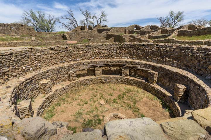 Ceremonial circle Aztec Ruins National Monument New Mexico