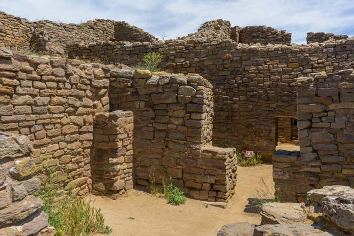Rooms in Aztec Ruins National Monument New Mexico