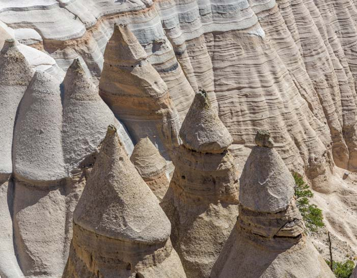 Closeup Tent Rocks National Monument New Mexico