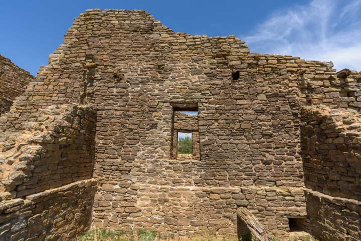 Double windows at Aztec Ruins National Monument New Mexico
