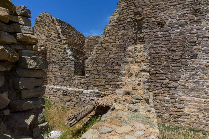 Stone walls at Aztec Ruins National Monument New Mexico