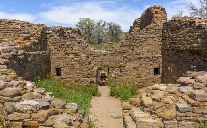 Low doorways Aztec Ruins National Monument New Mexico