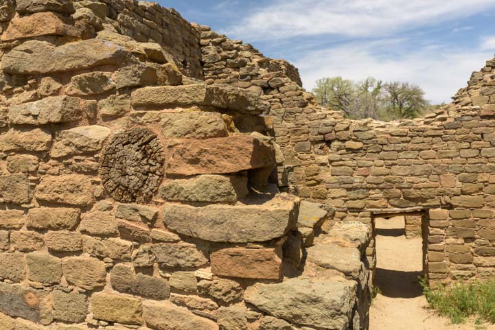 Log beam at Aztec Ruins National Monument New Mexico