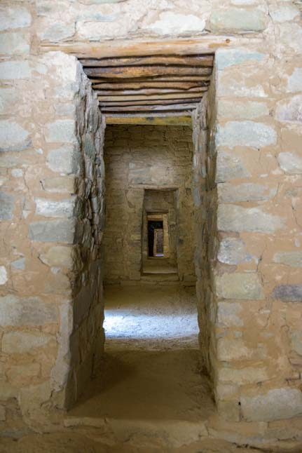 Series of doorways Aztec Ruins National Monument New Mexico