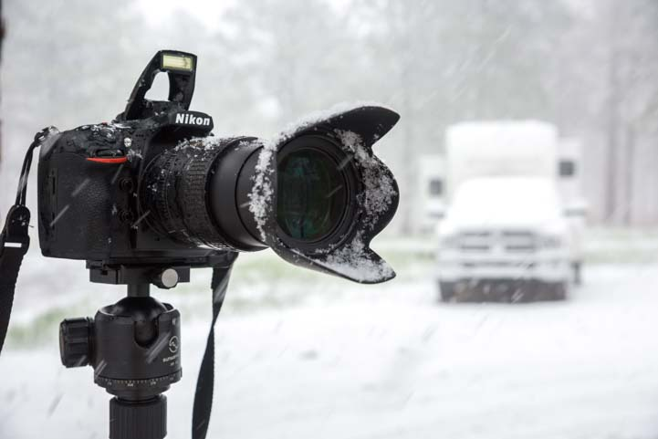 Spring snowstorm photography New Mexico