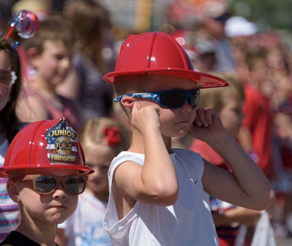 Junior fire fighters 4th of July Parade Custer, South Dakota
