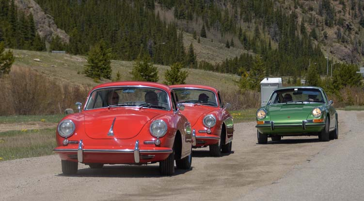 Rally for Porsche 356 roadsters