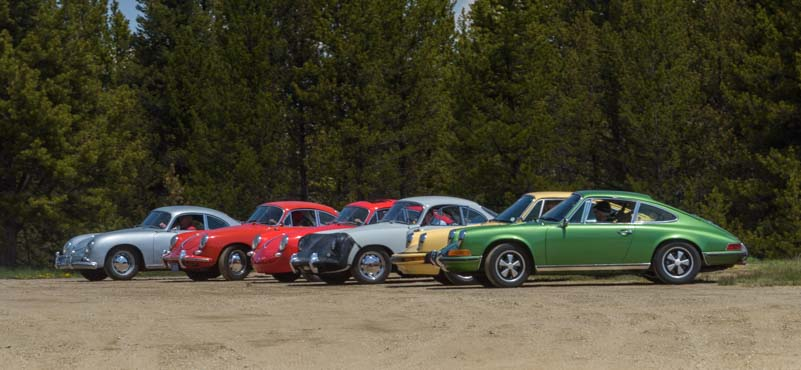 Rally for Porsche 356 roadsters in Colorado Rockies