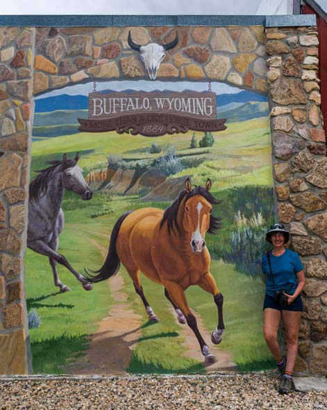 Horse mural Aaron Wuerker and Jenny Wuerker Buffalo Wyoming