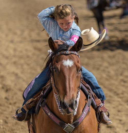 Rodeo princess loses her hat Johnson Country Fairgrounds Buffalo Wyoming