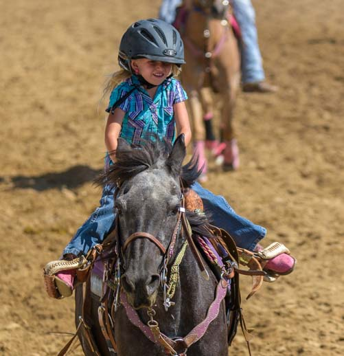 Little Rodeo princess Johnson Country Fairgrounds Buffalo Wyoming