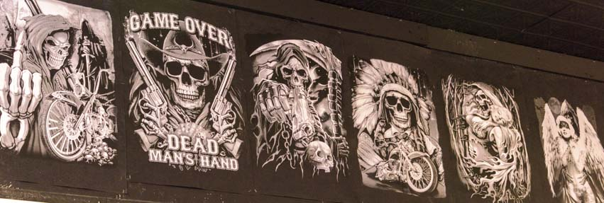 Bad boy skeleton t-shirt designs Sturgis Motorcycle Rally South Dakota