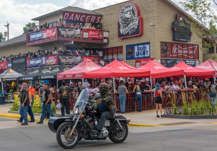 Bar scene Sturgis Motorcycle Rally South Dakota