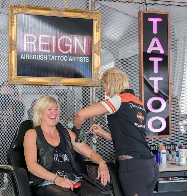 Get a tattoo Sturgis Motorcycle Rally South Dakota