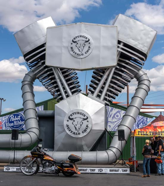Harley Davidson engine Sturgis Motorcycle Rally South Dakota