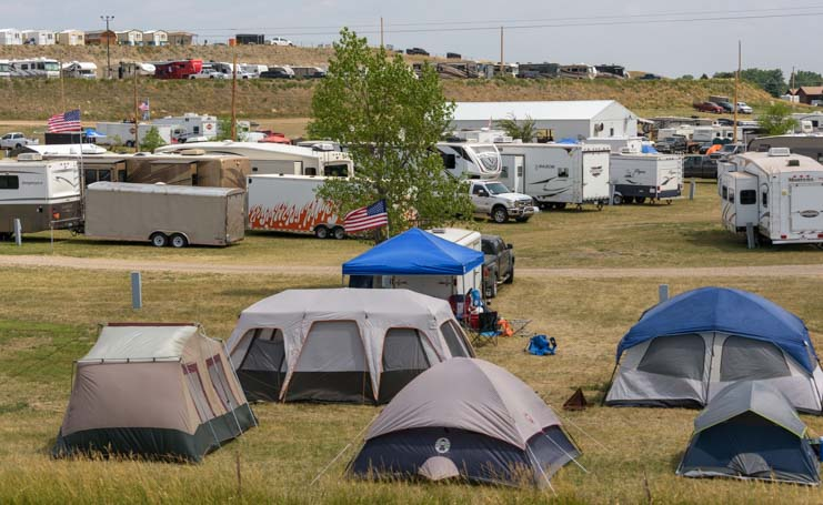 Tent city Sturgis Motorcycle Rally South Dakota