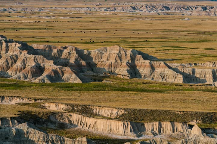 Landscape Badlands National Park South Dakota