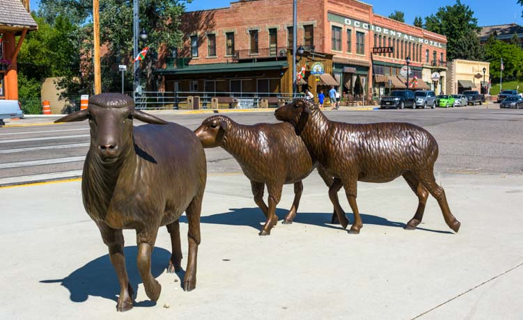 Sheep sculpture and Basque history Buffalo Wyoming