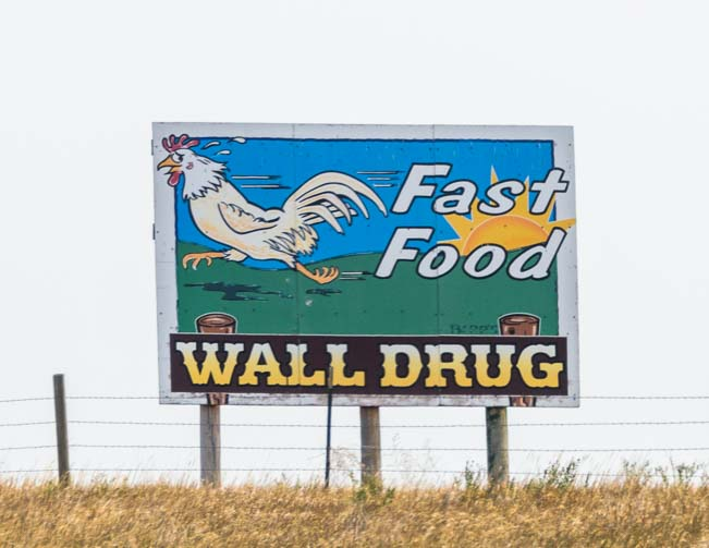 Wall Drug Fast Food sign Wall South Dakota