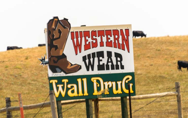 Wall Drug Western Wear Sign Wall South Dakota