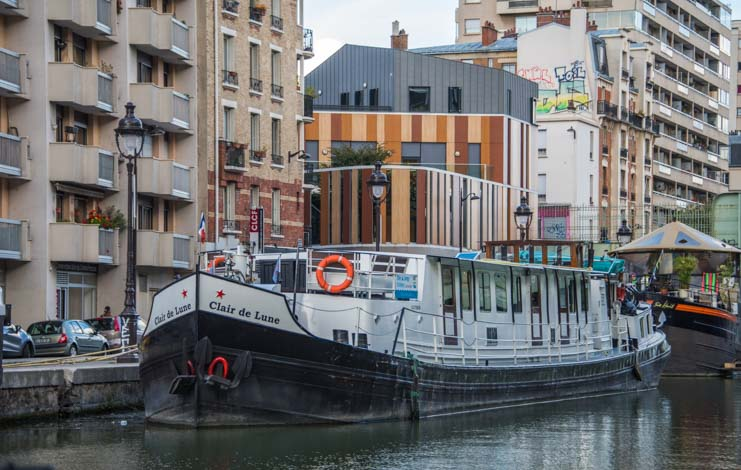 Hat Tours Bike and Barge on River Seine Paris