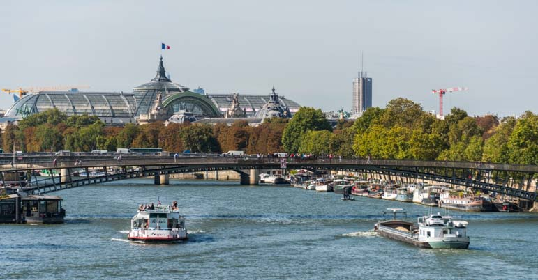 Boats on the River Seine Paris