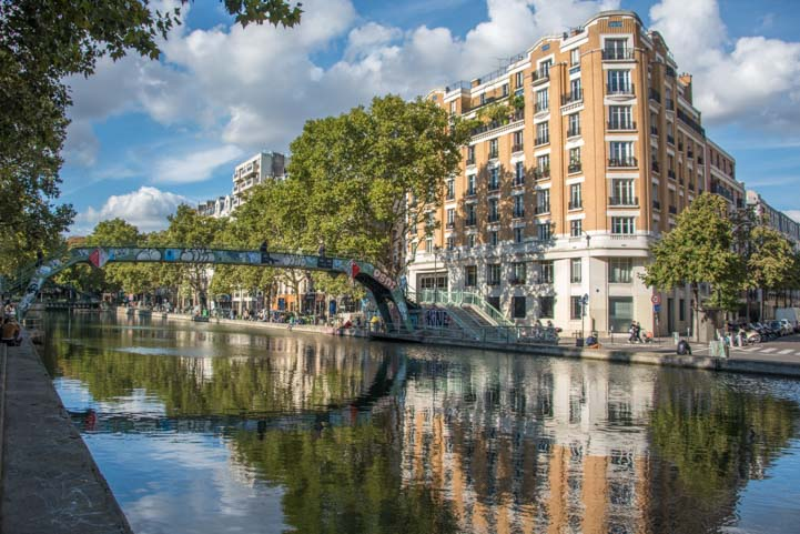 Canal reflections in Paris