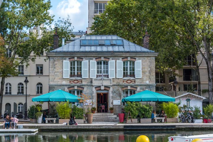 Canal scenery Canauxrama canal boat ride Paris
