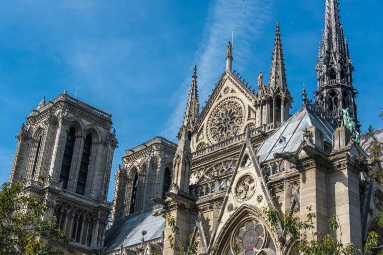 Notre Dame Cathedral spires Paris