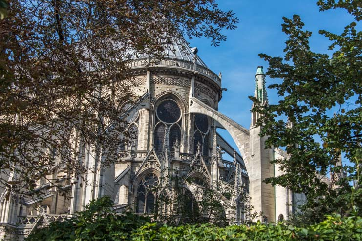 Notre Dame Cathedral ramparts Paris