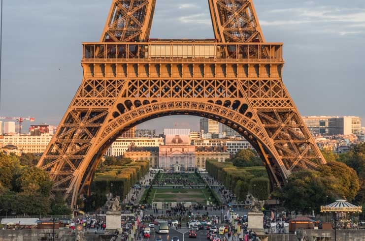Base of the Eiffel Tower in Paris France-min 2