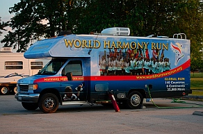World Harmony Run truck Chanute KS