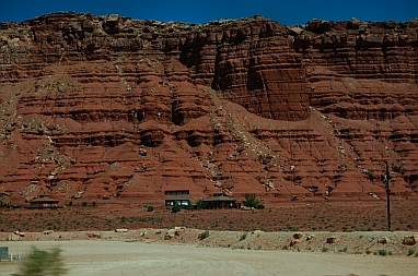 Vermillion Cliffs Arizona near Lees Ferry AZ seen from our RV on the road