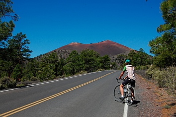 Bicycling at Sunset Crater Flagstaff AZ